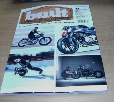 Built magazine Handcrafted Motorcycles #12 2018 Cafe Racers Trackers Scramblers
