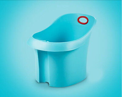 New Blue Baby Infant Kids Comfortable With Backrest Safety Durable Bath Tub.