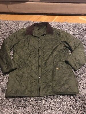 Barbour Liddesdale Mens Jacket Corduroy Plaid quilted Coat  Green Olive XL