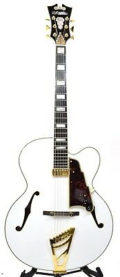 D'Angelico EXL-1 Standard Archtop Electric Guitar - White w/ TUNER & CABLE