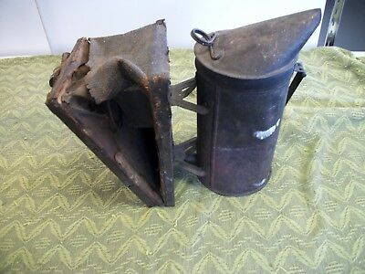 Antique Garden Shed Display Insect Powder bellows dispenser, Steampunk