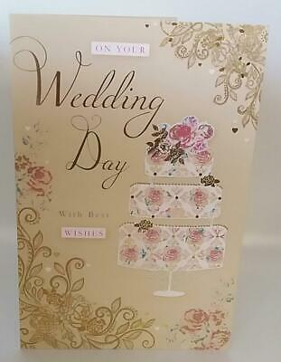 Wedding day with best wishes greeting card new 199 picclick uk wedding day with best wishes greeting card new m4hsunfo