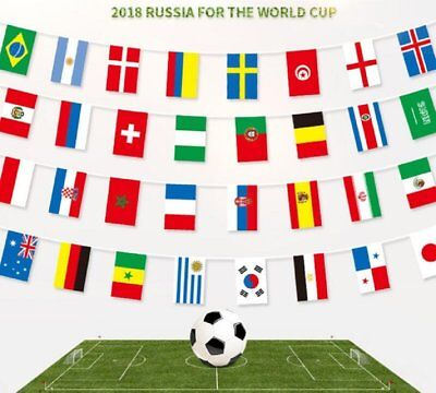 2018 FIFA World Cup Russia All 32 Teams Flags Bunting Soccer Football Banner 10M