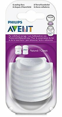 Philips AVENT SCF143/06 - 6x Baby Bottle Sealing Discs Pack Leak Proof Storage