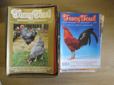 Set of 166 Fancy Fowl Magazines - Poultry For Showing And Pleasure (1982-2004) V