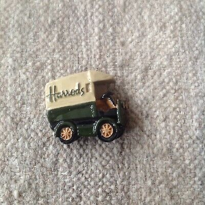Harrods London UK Delivery Truck Souvenir Magnet VGC Hand Painted No 2 Alike
