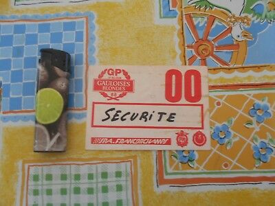 Documents Papiers Ticket Entree Spa Francorchamps  Securite 00 Gp 1988