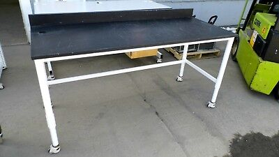 """30"""" X 72"""" X 36"""" Tall Composite Top Laboratory Work Bench/table With Back-Splash"""