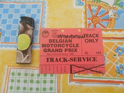 Documents Papiers Ticket Entree Spa Francorchamps 1989  Motorcycle Gp