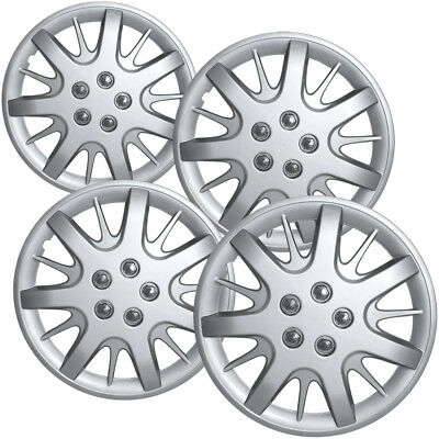 OxGord Hub-caps for 11-17 Nissan Quest /(Pack of 4/) Wheel Covers 16 inch Snap On Silver