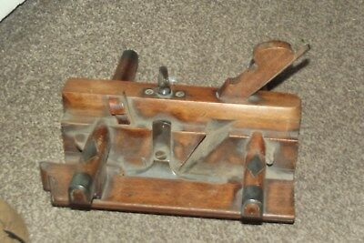 Antique Wood Plough Plane TAYLOR & SONS C 1860 Plow Groove Woodworking Tools