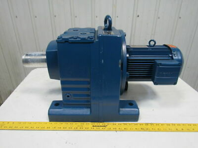 Sew Eurodrive R107DRE100LC4 172:1 Ratio 10 RPM Output 230/460Y 5Hp Gear Reducer