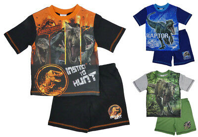 BOYS OFFICIAL JURASSIC WORLD T-REX SHORT PYJAMAS AGES 4-5 years up to 9-10 years