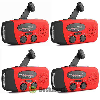 Lot Emergency Solar Hand Crank Dynamo AM/FM/NOAA Weather Radio Flashlight Charge