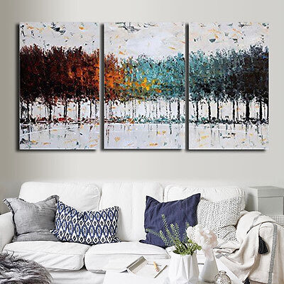 Colorful Tree Abstract Canvas Painting Print Art Wall Home Decoration Unframed