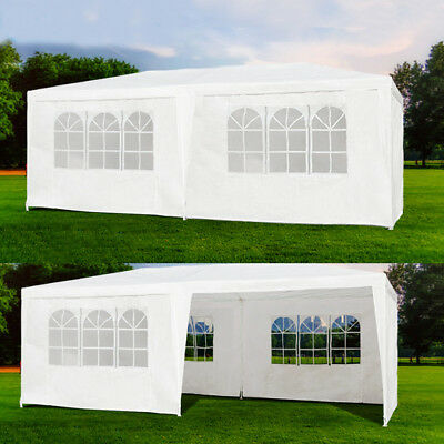 10'x20' Outdoor Canopy Party Wedding Tent White Gazebo Pavilion 4/6 Side Walls