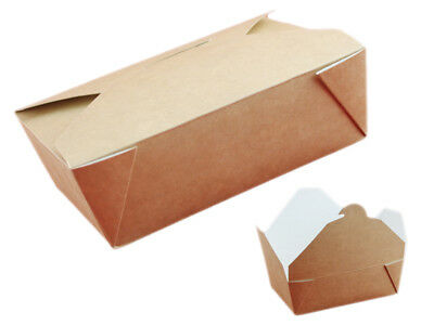 50 Lunchboxen nature, Food to go, 11x9x5 cm 500ml (234885)