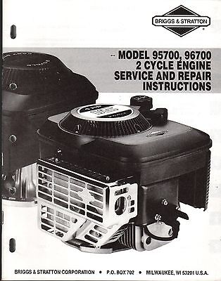 Briggs & Stratton 2 Cycle Engine Service Manual 95700 & 96700 Ms-9640 1-93