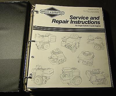 Briggs & Stratton Single Cylinder 4 Cycle Engines Service Manual  Ms-4750-11/94