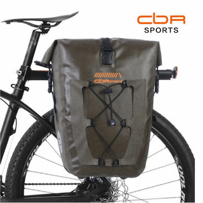 2ce78c4f835 CBR Cycling Pannier Bag Waterproof Bicycle Travel Rear Seat Carrier Black  27L