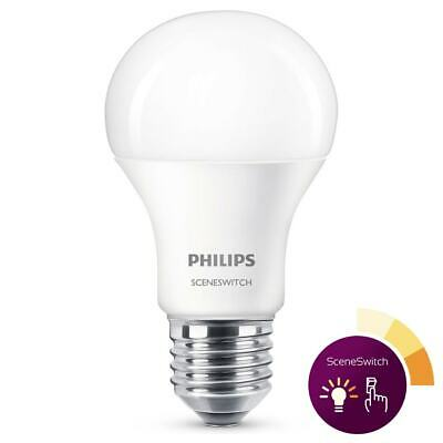 Philips LED SceneSwitch Lampe ersetzt 60W, E27 Standardform A60, matt