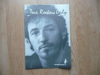 Bruce Springsteen - for true rockers only -issue 1 - summer 1989 & setlist copy