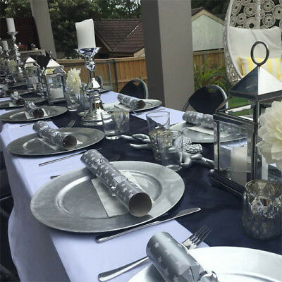 120x Silver Round Charger Under Plates Place Setting Wedding Serving Platter New