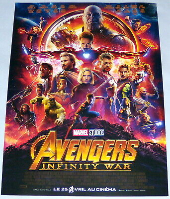 AVENGERS iNFiNiTY WAR Marvel iron-man Thor Black Panther SMALL French POSTER