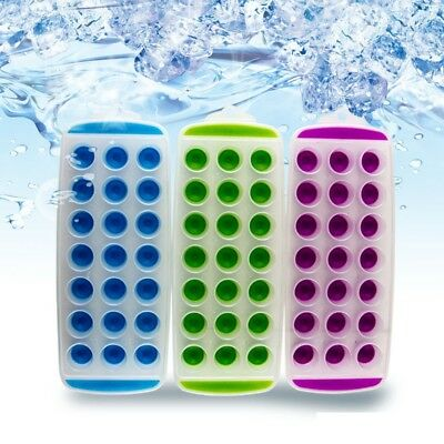 Easy Pop Out 21 Ice Cube Tray Silicone Mould Jelly Vokda Shots Freezer Maker