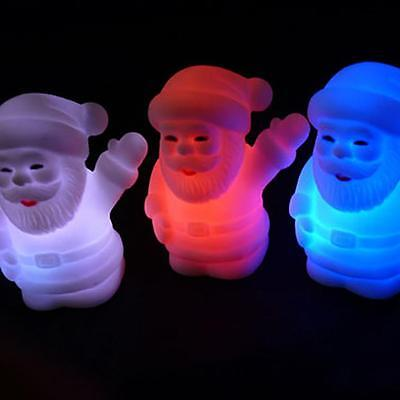 LED 7 Colors Changing Night Light Lamp Christmas Kids Gift Bedroom Party Decor