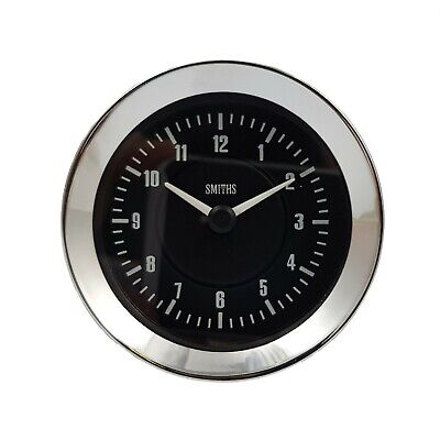 Smiths Time Clock Gauge 60mm in Black For Classic Cars GAE128/60