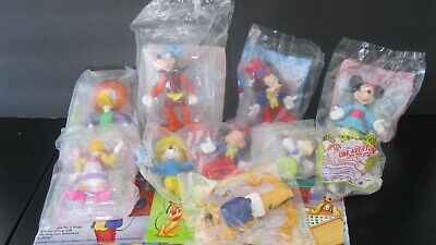 "Disney's  ""Mickey & Friends""  Epcot Center Set of 8 toys  Plus 4 Mint Boxes 1994"