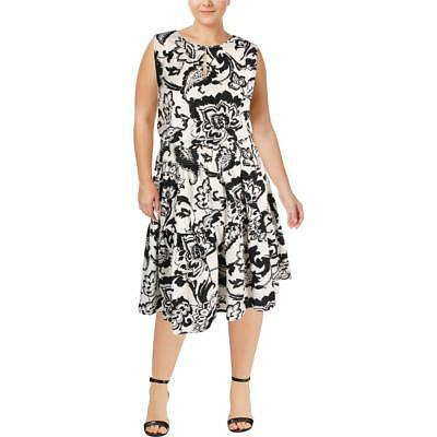 Lauren Ralph Lauren Womens Paisley-Print Sleeveless Casual Dress Plus BHFO 7658
