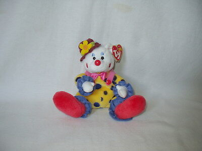 TY BEANIE BABY Babies JUGGLES the CLOWN plush bean bag toy NWT ... 435c7c1a43ab