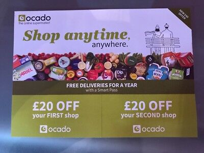 Ocado Dicount Shopping Voucher Code £20 Off First Shop £20 Off Food Delivery Ord