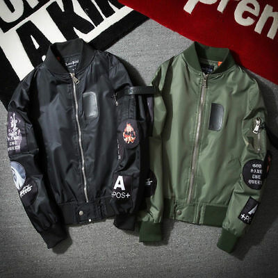 Spring MA1 Mens Army Pilot Biker Bomber Fly Military Security Doorman Jacket