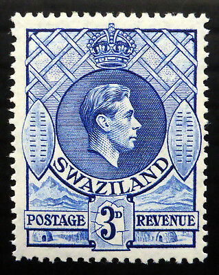 SWAZILAND 1947 G.VI - 3d SG32d Mounted Mint NH66