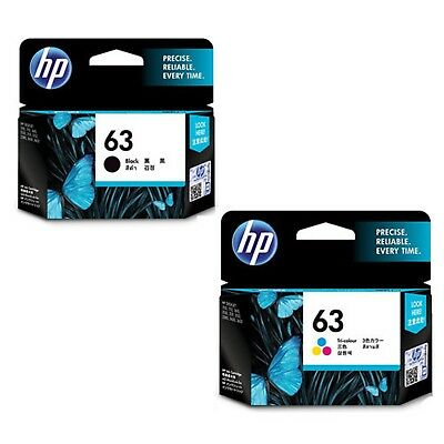Genuine HP 63 Black + Color for ENVY 4520 All-in-One