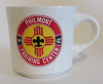 Vtg Boy Scouts BSA 8oz Coffee Mug Cup Philmont Training Center NM Ranch