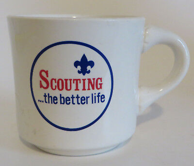 Vtg Boy Scouts BSA 8oz Coffee Mug Cup Scouting ..... The Better Life