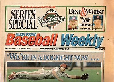 Baseball Weekly 1993 World Series Special 26 October 1993