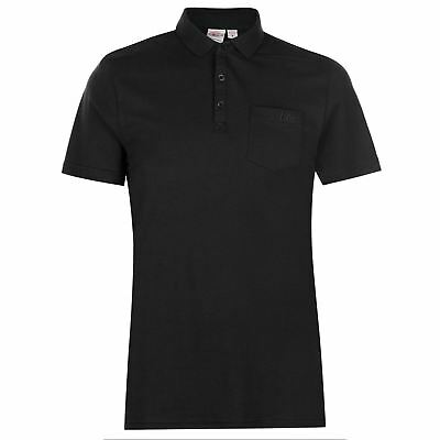 Lee Cooper Mens Essentials Polo Shirt Classic Fit Tee Top Short Sleeve Cotton