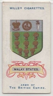 Malay States  British Empire Coat Arms Sout East Asia 100+ Y/O Trade Ad Card
