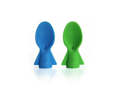 Cherub Baby Universal Food Pouch Spoons 2 pack – Blue Green