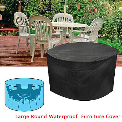Large Rattan Garden Furniture Cover Patio Day Bed Outdoor Round Waterproof Cover