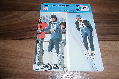 ULRICH WEHLING / Nordischer Skisport -- Editions Rencontre S.A. Lausanne 1977