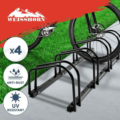 1 – 4 Bike Floor Parking Rack Instant Storage Stand Bicycle Cycling Portable BK