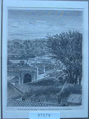 87579-Asien-Asia-China-Peh-tang-T Holzstich-Wood engraving