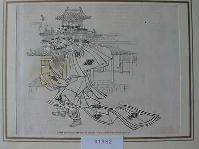 91982-Asien-Asia-Japan-Nippon-Nihon-Mikado-T Holzstich-Wood engraving