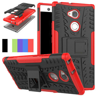 Protective Slim Hard Armor Case Stand Shockproof Cover For Sony Xperia XA2/Ultra